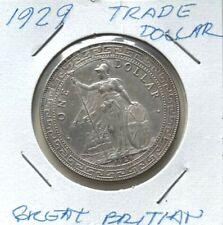 GREAT BRITIAN 1929 TRADE DOLLAR XF/AU