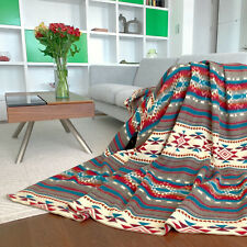 SALE!!! HUGE SOFT & WARM ALPACA WOOL BLANKET NATIVE AMERICAN AZTEC 190x232 cm