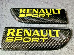 Renault Megane Sport 225/R26 Mk2 Carbon Fibre Bullet Door Badges *YELLOW*