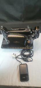 Vintage Electric Singer Sewing Machine Mod 201K No EG288874 Date 18/1/1950