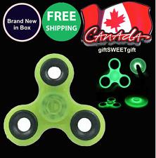 FIDGET SPINNER GYRO Glow in the Dark FREE SHIP CANADA Lime Light Green NEW w/Box
