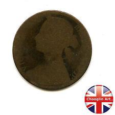 A British Bronze 1874 H VICTORIA PENNY Coin (Heaton)             (Ref:1874_45/6)