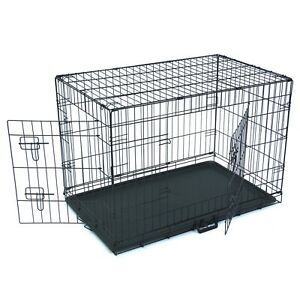 New Folding Steel Dog Crate, Various Sizes, Pets, Cage, ABS Plastic Bottom
