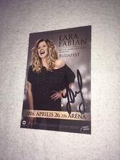 Lara Fabian Photo Publicitaire Dedicace Autograph