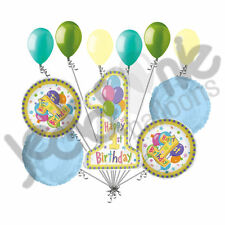 11 pc 1st First Happy Birthday Balloon Bouquet Party Decoration Baby One 1 Boy