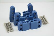 New Blue Ignition Lead Wire Separators with Vertical Mounts Suit 7-9mm