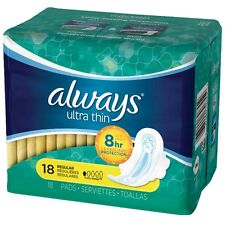 Always Ultra Thin Pads Regular Flexi-Wings 18 ea