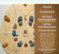 "ABUNDANT COMMUNICATION WITH ANGELS Grid Card 4x6"" Heavy Cardstock Crystal Use"