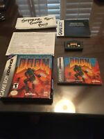 Doom Nintendo Game Boy Advance GBA GAMEBOY COMPLETE CIB AUTHENTIC SAVES SEE PICS