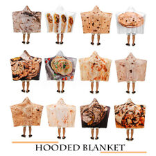 Hooded Blanket  3D Winter Warm Wearable Soft Plush Cloak Cape Throw Mat