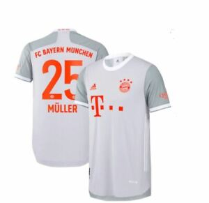 Thomas Müller 25 FC Bayern Authentic Away Shirt 2020-21 Size L Brand New