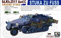 AFV Club 1/35 AF35091 WWII German STUKA ZU FUSS Sd.Kfz.251/1 Ausf.C Ground Stuka
