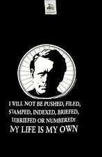 The Prisoner Patrick McGoohan Silkscreened T-Shirt (1987) Extra Large, Unused