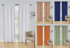 """2 Panels Solid Microfiber Lined Window Curtain 100% Privacy 84"""" long Semi-opaque"""