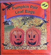 Halloween Pumpkin Pair of Leaf Bags 30 x 24 NEW