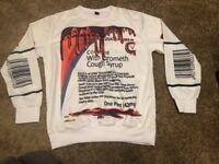 ACTAVIS CODEINE  Cough Syrup Long-Sleeve Shirt, Size XXL Vintage Sunny Inc 1987
