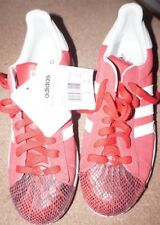 Mens adidas Red Snakeskin Superstar II Trainers - Size 8 UK - New