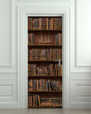 Door STICKER shelfs with antique books
