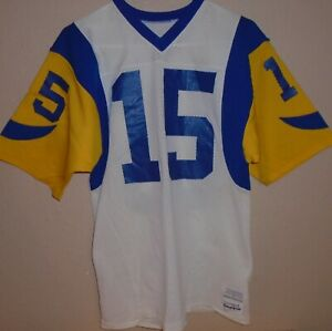 Los Angeles RAMS Vince Ferragamo sand-knit jersey size Medium