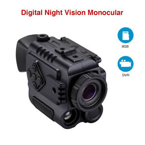 Ultra Small 8GB 1-5X18 Multi-Purpose Night Vision Monocular Auto IR Binocular Br