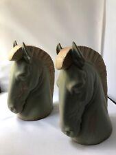 LLADRO pair of horse head bookends by SALVADOR FURIO vintage 1970s book ends