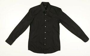 Camicia Hugo Boss Tg: 40 Usato (Cod.EBAY120) Vintage Slim Fit Nero Uomo
