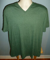 Banana Republic Fitted Vee Green V-Neck T-Shirt Extra Large XL