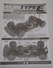 New Tamiya 'TT01E' / 'TT-01 Type E' Chassis Instructions / Build Manual 11050688