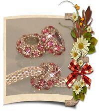 ♥ Spacer Bead Charm Strass Rondell European Tibetsilber silber rosa  ♥ PBS073