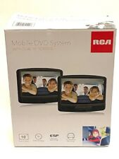 """New RCA Mobile DVD System Dual 10"""" inch Screens Black Car Headrest Mounting"""