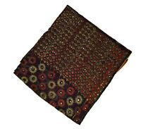 """Vintage Dupatta Wedding Long Indian Scarf Floral Jerry Embroidery Veil Stole L"""""""