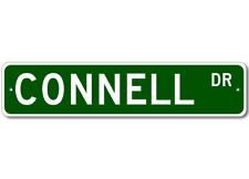 CONNELL Street Sign - Personalized Last Name Sign