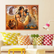 5D DIY Diamond Painting Indian Wolf Hawk Embroidery Cross Stitch Home Art  )