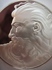 1.3 -OZ.925 SILVER COIN HEAD OF GOD FRANKLIN MINT GENIUS OF MICHELANGELO +GOLD