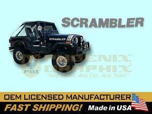 1979 1980 1981 1982 1983 1984 1985 1986 1987 Jeep CJ Scrambler Decal Stripe Kit