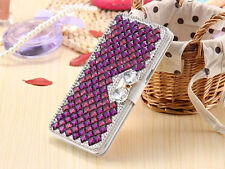 Women Lady Wallet Bling Crystal Diamond Leather Case Cover For LG Phones S003