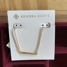 Kendra Scott Elliot Pendant Gold CZ Necklace 15 inch w/ 2 Inch Extender MSRP $50
