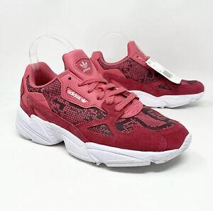 Adidas Originals Women's 5.5 Falcon W Sneakers Craft Pink Snakeskin Print FV4481