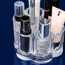 6 Slots Acrylic Clear Cosmetics Makeup Tool Container Storage Organizer Case Box