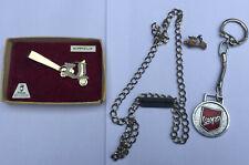 Mod, scooter collectables: Lambretta necklace, Vespa keyring, tie clip, charm