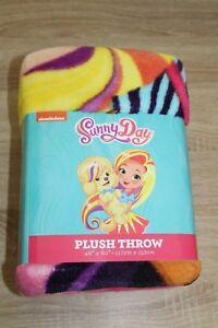 "NEW Nickelodeon Sunny Day Fleece Plush Throw Blanket 46"" X 60"""