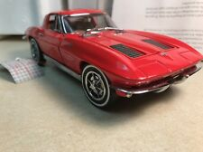 1/24 Franklin Mint Riverside Red 1963 Corvette Sting Ray Split Window B11PX67