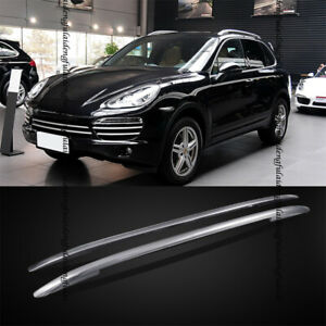 For Porsche Cayenne 2011-17 Aluminum alloy baggage luggage Roof rack rail bar 2P
