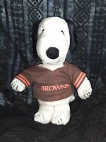 Cleveland Browns SNOOPY dog jersey Tailgate Bedroom VTG Plush Applause Licensed