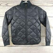 NEW MARINE LAYER Black Down Quilted Puffer Jacket Meredith Puffer Coat Black XS