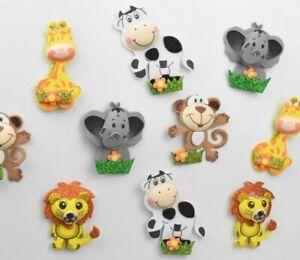 10 X Baby Shower Safari Party Supplies Girl Boy Favors Jungle Decoration Foam Mo