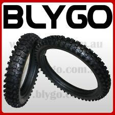 """GL 70/100- 17"""" Front 90/100- 14"""" Inch Rear Knobby Tyre Tire + Tube PIT Dirt Bike"""