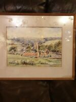 Gerald S. Lake - Signed 20th Century Watercolour, Agricultural  Landscape