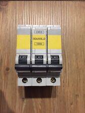 Square D QOE 63 Amp Type D MCB Circuit Breaker 3 Phase Pole