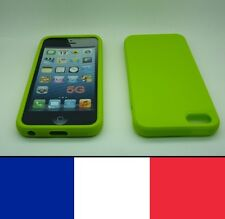 Housse silicone Vert pour iphone 5, 5S,SE etui protection, coque silicon case
